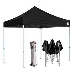 Eurmax 10'x10′ Ez Pop Up Canopy Tent Commercial Instant Shelter with Heavy Duty Roll ...