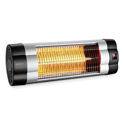 SURJUNY Infrared Heater, Electric Wall-mounted Patio Heater, Indoor/Outdoor Infrared Heater, Wat ...