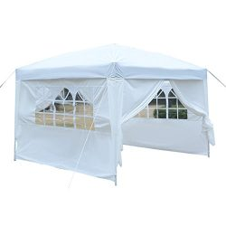 TANGKULA 10'x10′ Outdoor Pop-Up Canopy Tent Sturdy Steel Frame Durable Oxford Fabric ...