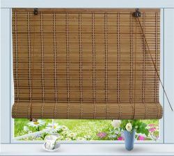 Bamboo Roll Up Window Blind Sun Shade W24″ x H72″