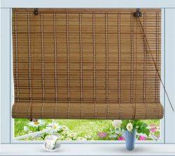 Bamboo Roll Up Window Blind Sun Shade W48″ x H84″