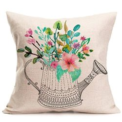 Gotd Multicolor Pillow Flower Letters Series Pillow Christmas Decorations Decor Square Linen Ble ...