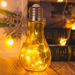 Newest Glass Ball Table Lamps Hanging Starry Led Night Light Bulb Design Bedside Baby Nursery La ...
