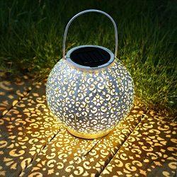 TAKE ME Solar Lantern Outdoor,Lantern Garden Hanging Lights Waterproof 10 Lumens Warm White LED  ...
