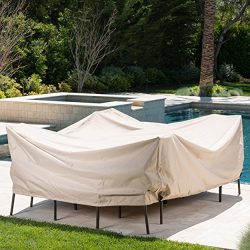 Coverall Outdoor Patio Dining Set Cover | Waterproof Fabric | Drawstring Closure