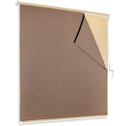 RYB HOME Blackout Curtain Liner – Portable Indoor Outdoor Use Cordless Thermal Insulated L ...