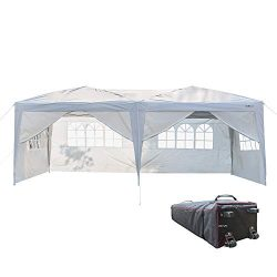 VINGLI 10′ x 20′ Ez Pop Up Canopy Tent with 6 Removable Sidewalls,Folding Instant We ...