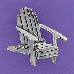Adirondack Chair Pin Sterling Silver 925 Rustic Beach Wood Muskoka Summer Patio – Jewelry  ...