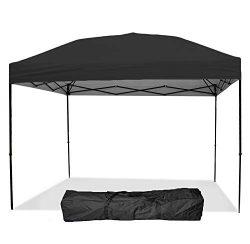 Punchau Pop Up Canopy Tent 10 x 10 Feet, Black – UV Coated, Straight Leg, Waterproof Insta ...