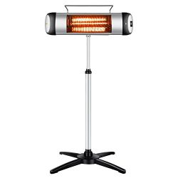 Sundate Patio Heater, Electric Infrared Heater with Remote Control and 24-Hour Timer for Indoor/ ...