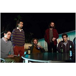 Silicon Valley cast seated at backyard patio table at night 8 x 10 Inch Photo