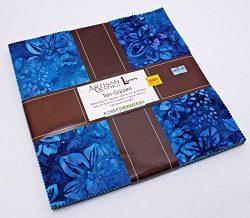 10″ Layer Cake Squares – Artisan Batiks: Gazebo Blue Aqua Teal Fabric Bundle Quilter ...