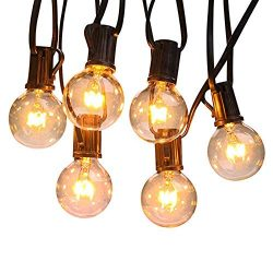 LED Globe Lights Retro Clear Energy Saving LED Bulbs for Patio Porch Backyard Deck Bistro Gazebo ...