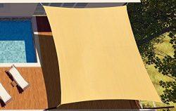 diig 16′ x 20′ Rectangle Sun Shade Sail Canopy, Patio Shade Cloth Outdoor Cover R ...