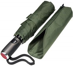 LifeTek Windproof Travel Umbrella Compact Vented Teflon Double Canopy Automatic Open Close Small ...