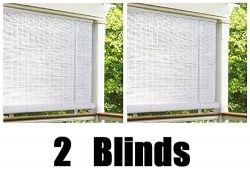 Lewis Hyman 0320146 4′ X 6′ White 1/4″ Oval Vinyl Roll-Up Blinds