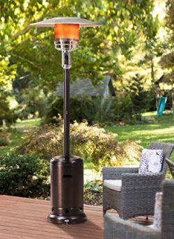 Sunjoy Lawrence Floor-Standing Patio Heater, 88″, Bronze Hammered Finished