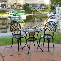Christopher Knight Home 234795″ Angeles CKH Outdoor Metal Bistro Set, Copper