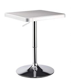Bar Table, Duhome Bar Height Table Pub Swivel Adjustable for Dining Living Room Kitchen Restaura ...