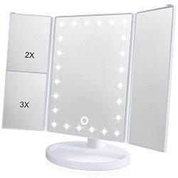 [2018 Upgraded Version] Lighted Makeup Mirror, Wondruz 24 Led Lights Vanity Mirror with Lights a ...