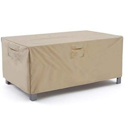 Vailge Veranda Rectangular/Oval Patio Table Cover, Heavy Duty and Waterproof Outdoor Lawn Patio  ...