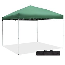 Green Garden Pop up Canopy Tent – 10 x 10 UV Proof Party Tent Outdoor Straight Leg Canopy