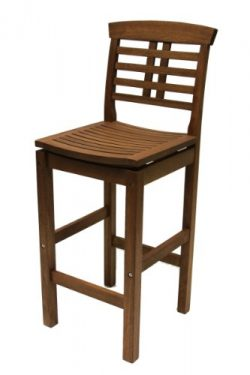 Outdoor Interiors 10030 Eucalyptus Hi Back Bar Chair
