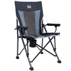 Timber Ridge Camping Chair Ergonomic High Back Support 300lbs with Carry Bag Folding Quad Chair  ...