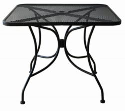 Oak Street Manufacturing OD3030 Square Black Mesh Top Outdoor Table, 30″ Length x 30″ ...