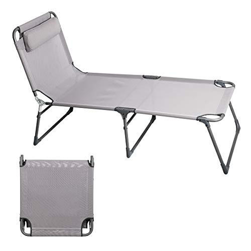 Portal Folding Camping Cot Patio Beach Poolside Chaise