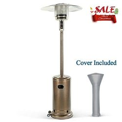 PAMAPIC Hammered Bronze Outdoor Propane 87″ Tall Patio Heater Cover