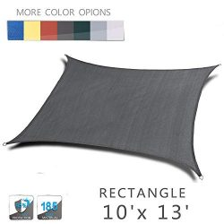 Love Story 10′ x 13′ Rectangle Charcoal UV Block Sun Shade Sail Perfect for Outdoor  ...