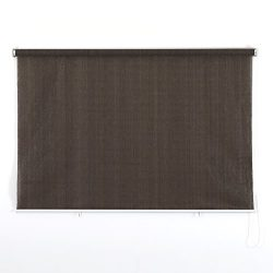 PHI VILLA Outdoor Patio Sun Shade Roller Shade 6ft by 6ft Coffee