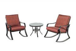Backyard Classics Cushion Rocker Chair Set Cushion Rocker Chair Set, Red