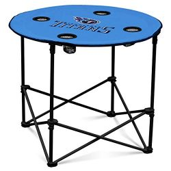Tennessee Titans  Collapsible Round Table with 4 Cup Holders and Carry Bag
