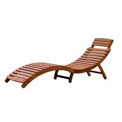 Merry Garden Curved Folding Chaise Lounger