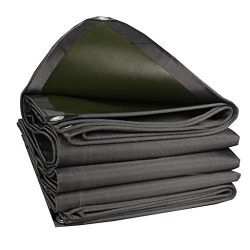 Qz Tarpaulin Black Waterproof Heavy Duty Tarp with Rust-Resistant Grommets, Pool Roof Pergola Au ...