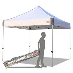 ABCCANOPY Aluminum Canopy Tent 10×10 Deluxe Pop up Instant Shelter with Roller Carry Bag,White