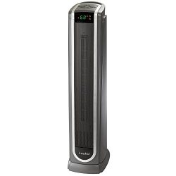 Lasko 5572 Ceramic Tower Space Heater with Logic Center Digital Remote Control-Features Built-in ...