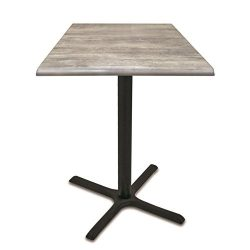 Holland Outdoor OD211B4230SGryStn 42″ Tall Indoor/Outdoor All-Season Pub Table with 30R ...