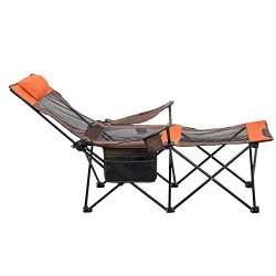ALLCAMP Folding Camping Chairs Beach Outdoor Patio Folding Recliner Portable Camping Sleeping, C ...