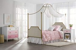 Little Seeds Monarch Hill Clementine Canopy Bed, Gold, Twin