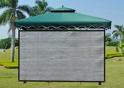 Shatex Attachment Umbrella Shade Screen Block 90% of UV Rays for Patio,Outdoor Umbrella W-6ft x  ...