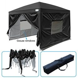 Quictent 2018 Upgraded Privacy 10×10 EZ Pop Up Canopy Party Tent Folding Gazebo with Mesh W ...