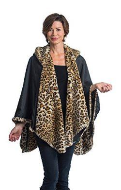 FurCaper Fur-Lined Rain Cape (Leopard Fur)