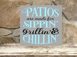 Patios are made for sippin' grillin' & chillin' – 12″x12&#8243 ...