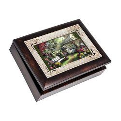 Cottage Garden Some People are Special Gazebo Italian Wood Finish Jewelry Music Box Plays song W ...
