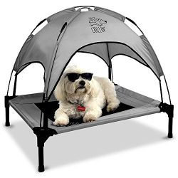 Floppy Dawg Just Chillin' Elevated Dog Bed | Dog Cot Comes with Removable Canopy | Can Be  ...