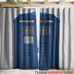warmfamily Police Drape for Pergola Doctors Blue House British Landmark Phone Box Police Call Im ...