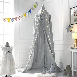 M&M Mymoon Bed Canopy Reading Nook Tent Dome Mosquito Net Hanging Decoration Indoor Game Hou ...